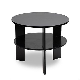 Mid Century Modern Black Lacquered Table