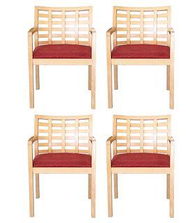 Set of 4 Steelcase Terrazzo Mid-Century Modern Armchairs