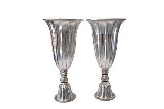 Mid Century Pair of Monumental Piero Figura Ruhlmann Style Vases