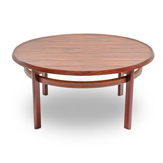 Mid century Modern Signed Scandinavian Rosewood Coffee Table by Haug Snekkeri for Bruksbo