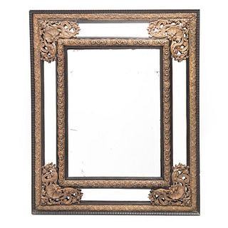 19th Century Victorian Brass Mirror Circa 1890