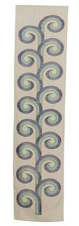 Growing --  A Silk Wall Hanging with Supplemental Weft Design