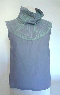 "Light Grey ""Breastplate"" Cotton Top (SIZE S)"