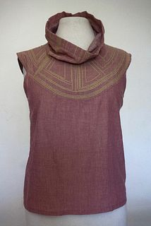 "Dusty Rose ""Breastplate"" Cotton Top (SIZE S)"