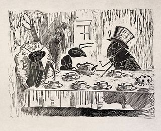 Sara Smith, Bughouse Tea Party (After Tenniel) (2 of 10)