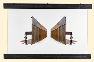 Maria Trunk and Chuck Kooshian, Reflections (Border Wall Construction Along the Rio Grande)