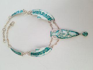 Katharine S. Wood, Turquoise Amphora Necklace