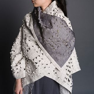 Crosscut Nomad Coat in Ecru + Silver