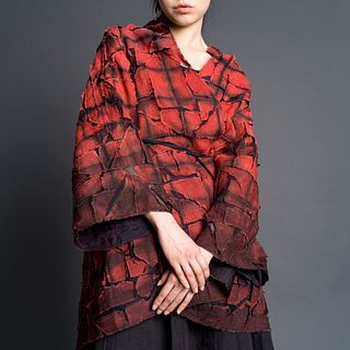 Puzzle Butterfly Coat in Lycoris + Anthracite