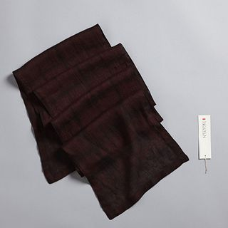Abstract Squares Scarf in Claret + Anthracite