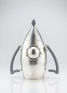 Sara Thompson Sterling Silver Rocket Ship Teapot
