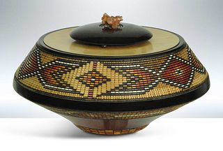 Keoni Morning Light Carved Wood Vessel