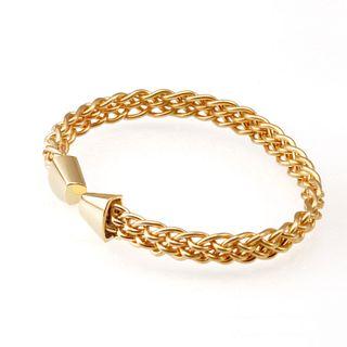 Trillion Six Strand Weave Bracelet