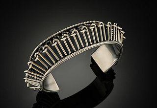 Sterling Silver Spiky Cuff