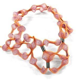 Landscape Necklace Orange