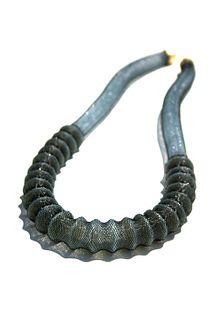 Ribbed Necklace Aqua