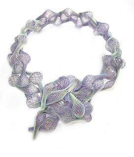 Braided Necklace Lavendar