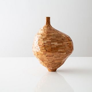 STACKED Faceted Cherry Vase, Short
