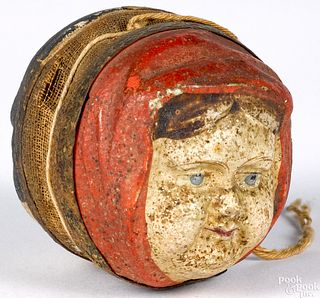 Unusual two face pipsqueak toy, 19th c.