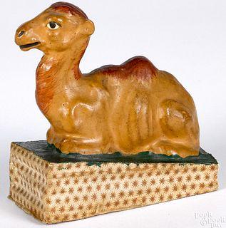 Camel pipsqueak toy, 19th c.