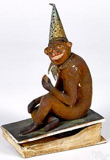 Monkey pipsqueak toy, 19th c.
