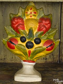 Vibrant Pennsylvania chalkware fruit garniture