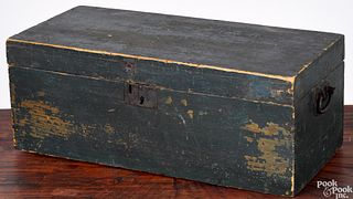 New England painted lock box, 19th c.