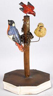 Bird tree pipsqueak toy, 19th c