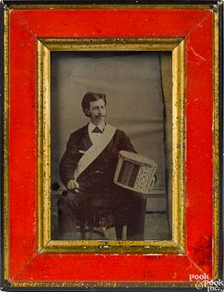 Tintype of a seated gentleman
