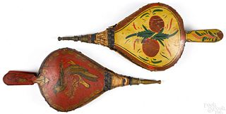 Two painted bellows, 19th c.