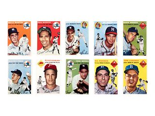 A Near Set of 1954 Topps Baseball Cards,