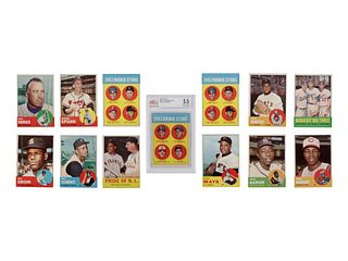 A Collection of 280 1963 Topps Baseball Cards Including a Pete Rose Rookie Card BVG Graded 5.5, Two Willie Stargell Rookies and Many High Numbers