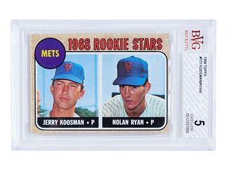 A 1968 Topps Nolan Ryan Mets Rookie Stars No. 177 Baseball Card,