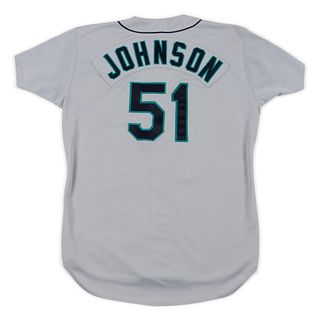 A 1995 Randy Johnson Seattle Mariners Game Used / Issued Jersey,