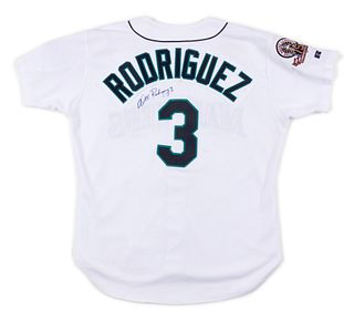 A 1995 Alex Rodriguez Seattle Mariners Rookie Season Game Used / Issued Jersey,
