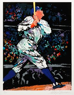 A 1995 Babe Ruth LeRoy Neiman Signed Serigraph,