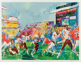"A 1988 Super Bowl XXII ""In the Pocket"" LeRoy Neiman Serigraph,"