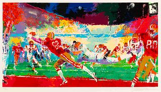 "A 1989 San Francisco 49ers ""Superplay"" LeRoy Neiman Serigraph,"