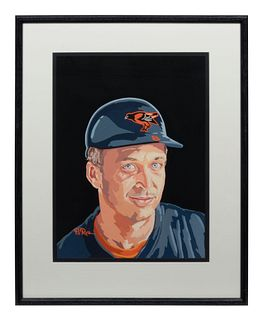 A 1996 Dick Perez Original Cal Ripken Jr. Donruss King of Kings Artwork, 18 x 13 inches