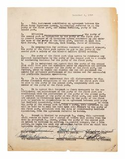 A 1953 Jesse Owens Signed Contract,