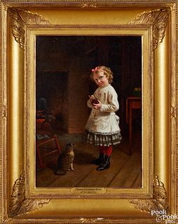 Thomas Waterman Wood oil on canvas interior scene