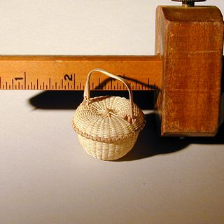 Miniature Covered Swing Handle Basket