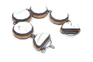 Poproxx Round Cut Reversible Link Bracelet
