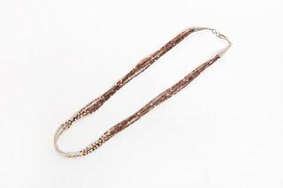 A Pueblo Five Strand Heishi Necklace