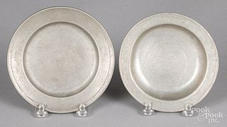 Small pewter deep dish and plate