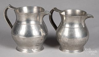 Two pewter pitchers