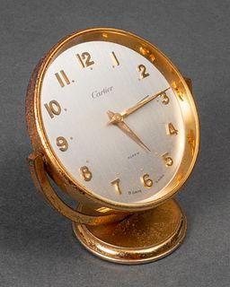 Cartier Brass 8-Day Desk Clock