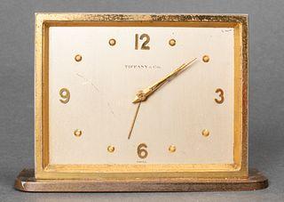 TIffany & Co. Mid-Century Modern Brass Desk Clock