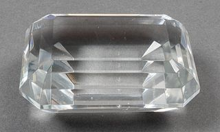Tiffany & Co. Emerald Cut Crystal Paperweight