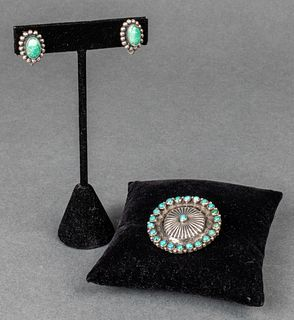 Native American Silver & Turquoise Jewelry, 2